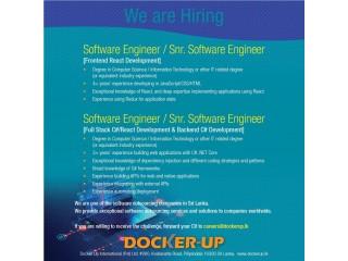 Software Engineer / Snr. Software Engineer (frondend react development / full stack C# / react development & C# backend development